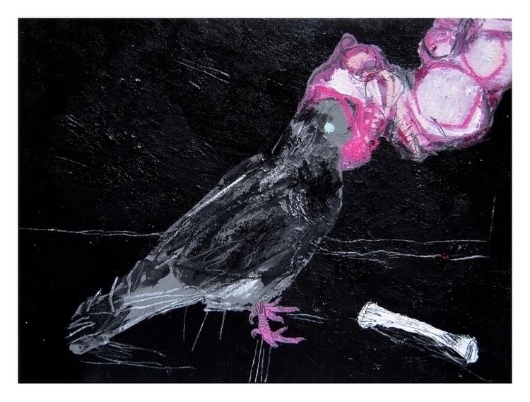 Pigeon. 30x24cm, 2015 - art, hell - carpmatthew | ello