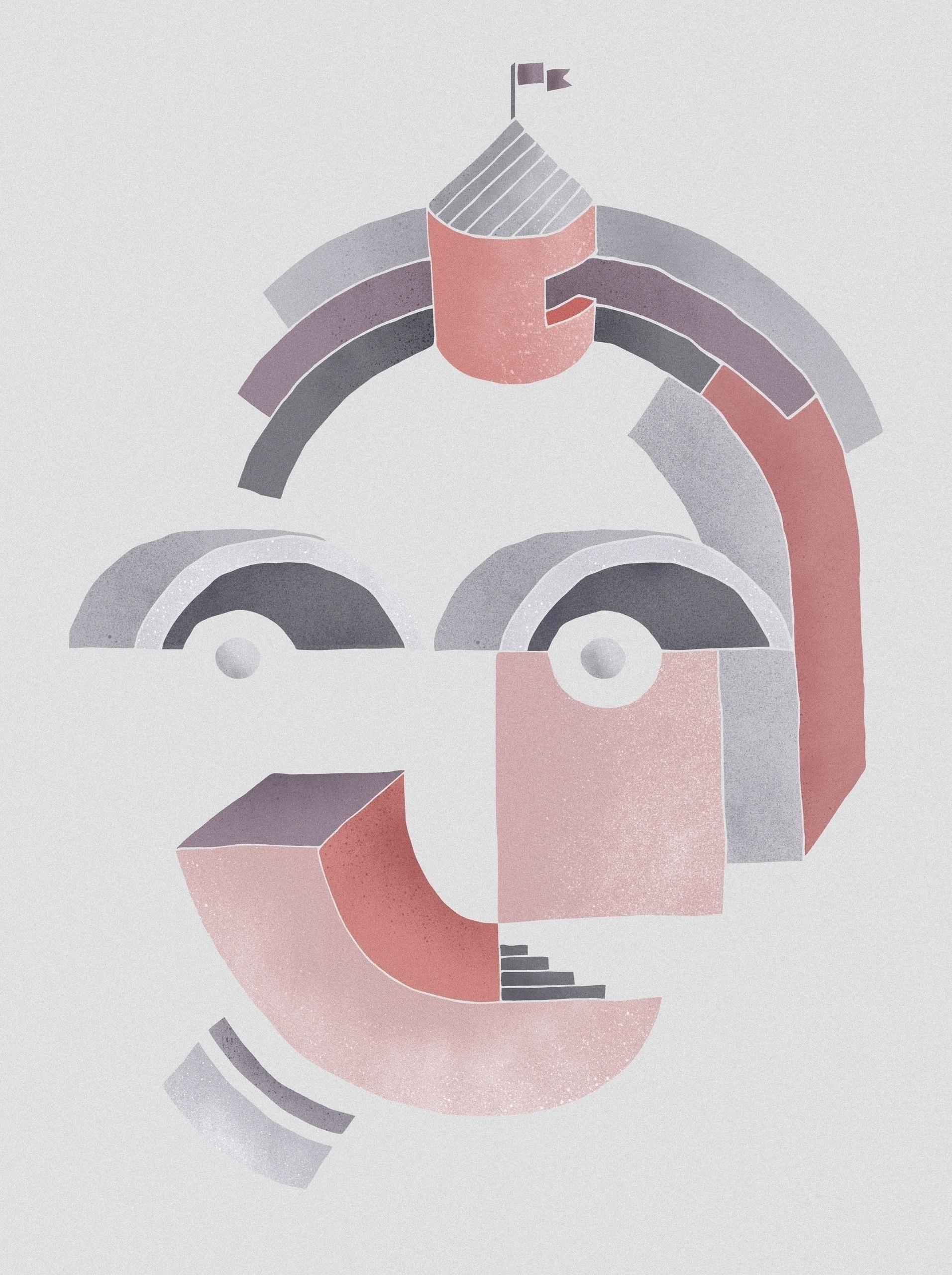 Face. illustration Kaunas Archi - agne_shu   ello