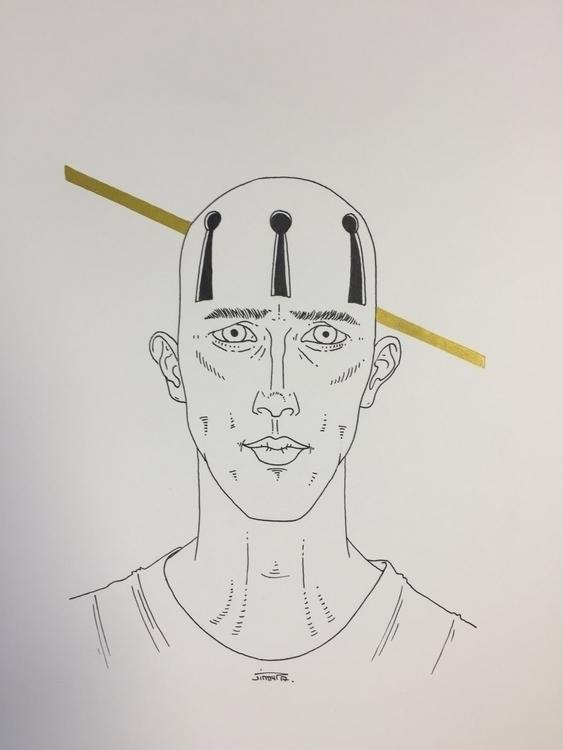 sans clé - illustration, art, man - jimmy-draws | ello