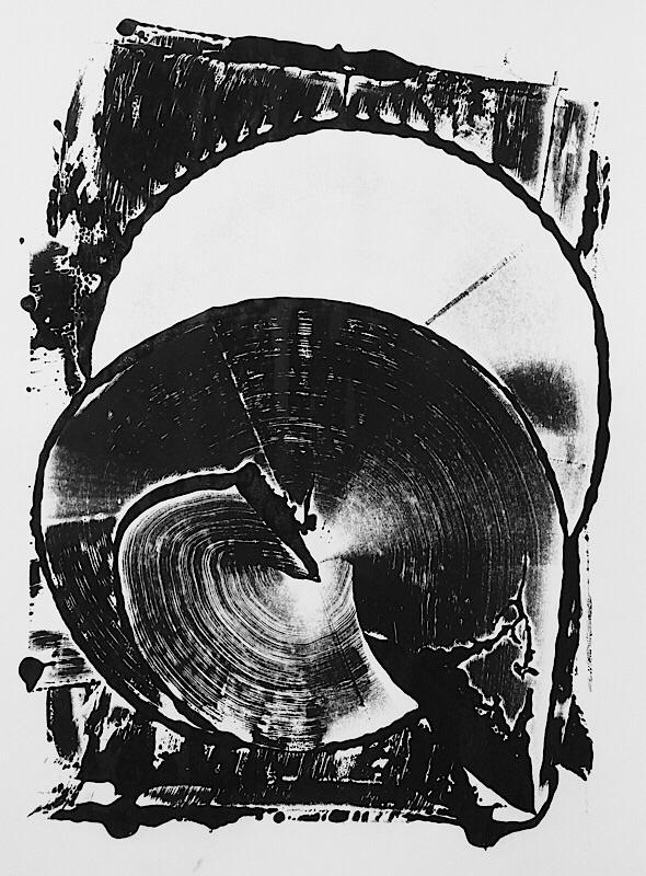 art, monotype, blackandwhite - mlui   ello