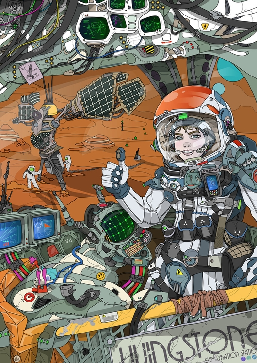 Solar Power - illustration, artwork - shugmonkey | ello