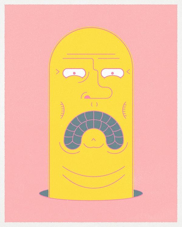 Worm - art, character, design, illustration - wheelchairjimmy   ello