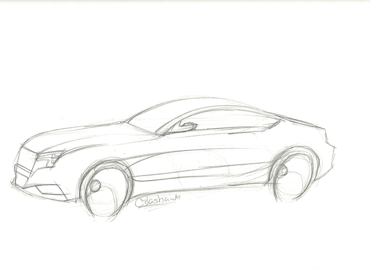 Audi Sketch - illustration, sketch - cjlashawn | ello