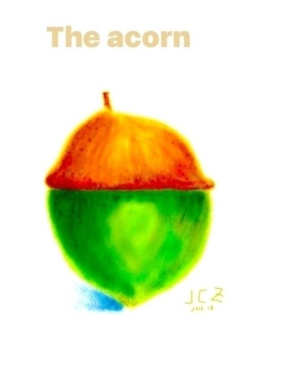 Filtered Acorn - acorn, sketch, digitaldrawing - iquitoz   ello