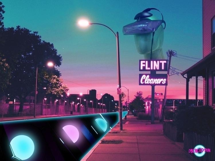 nice neon corner - cybercitypunk | ello