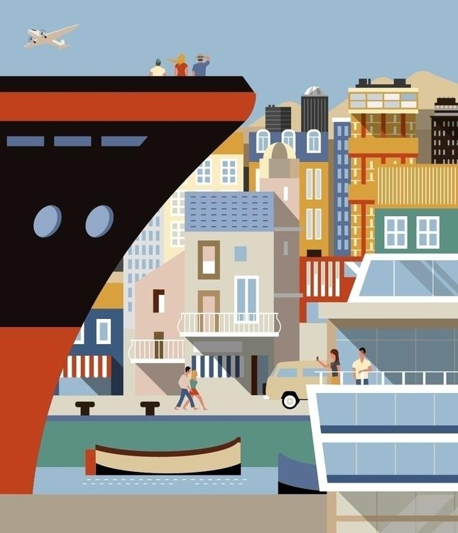 City Trip - illustration, city, travel - martin_carrese | ello