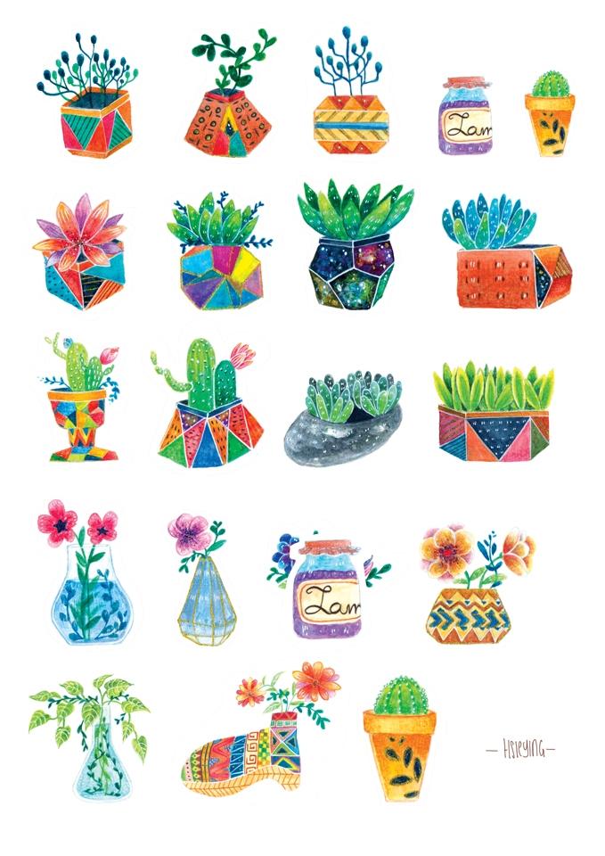 floral cultura small illustrati - hsieying | ello