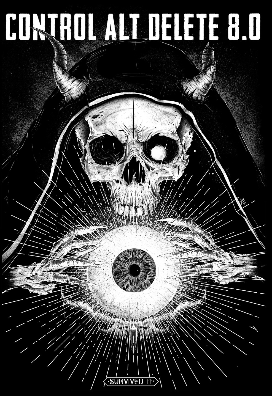 Necromancer - skull, sorcerer, eye - kidsquidy | ello