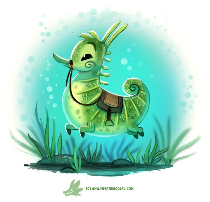 Daily Paint Seahorse - 1219. - piperthibodeau | ello