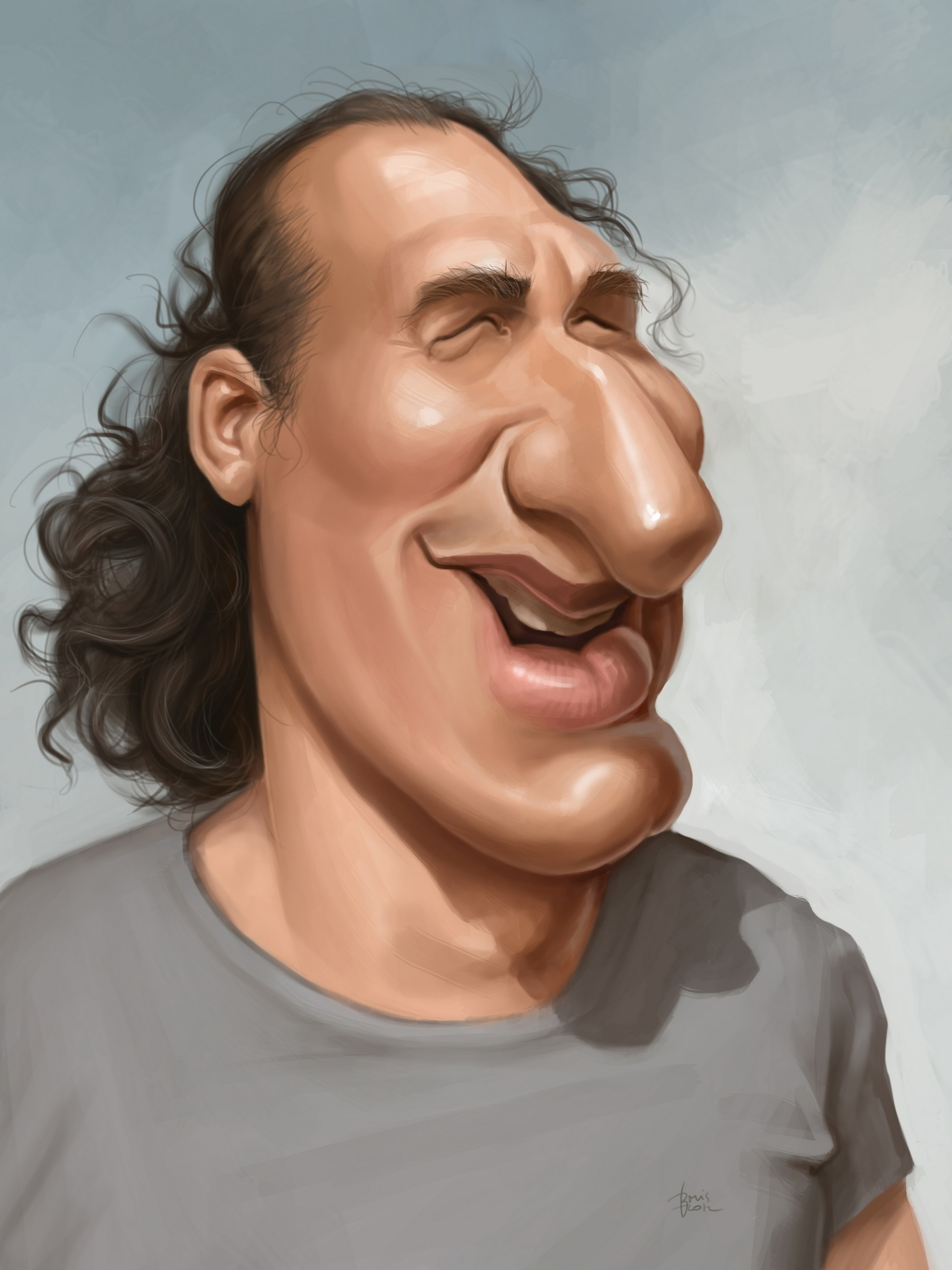 Vid Valic, slovenian actor - caricature - karikatureboris | ello