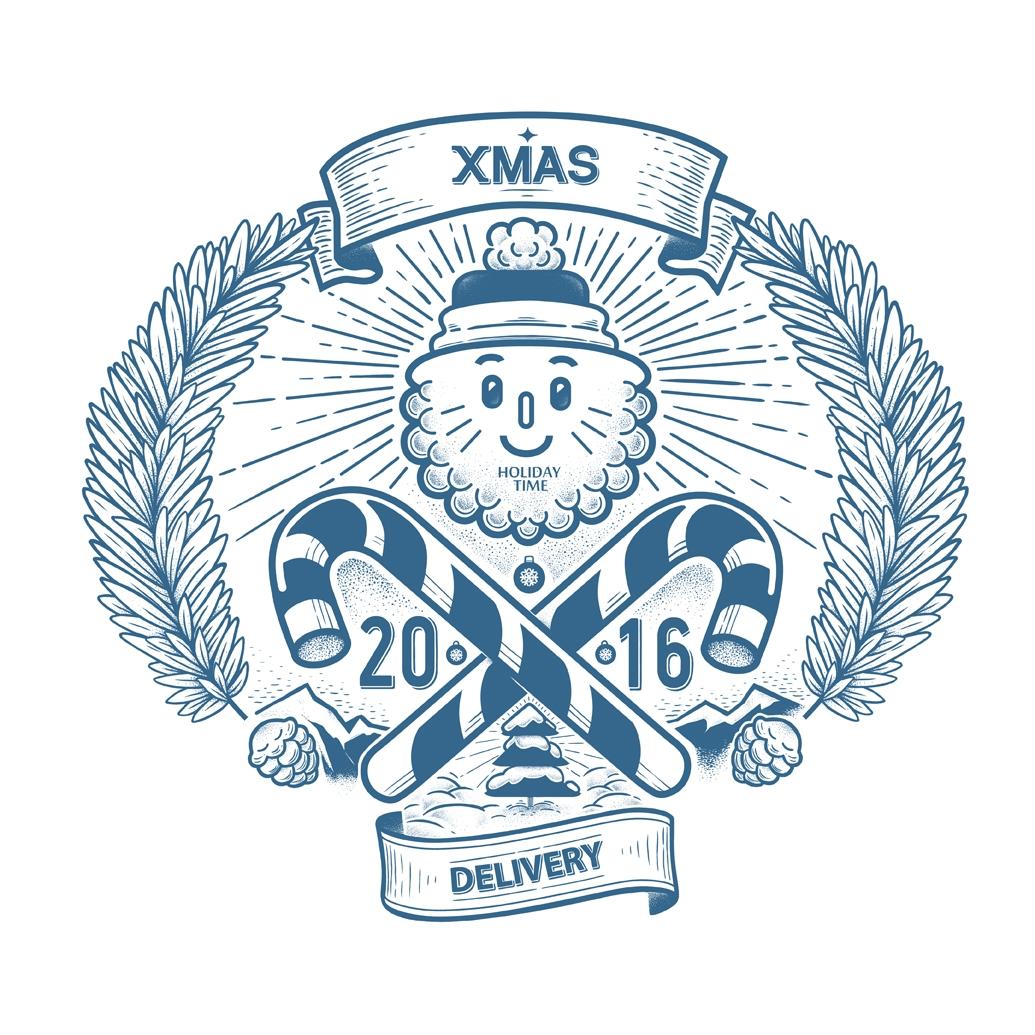 Xmas Delivery - illustration, characterdesign - kalininbrat | ello