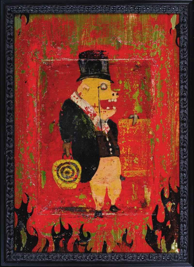 Bourgeois Pig - Painting - tilman-1445 | ello