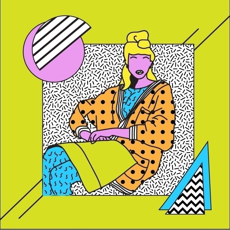 Girl - art, design, patterns, fashion - geelsee   ello