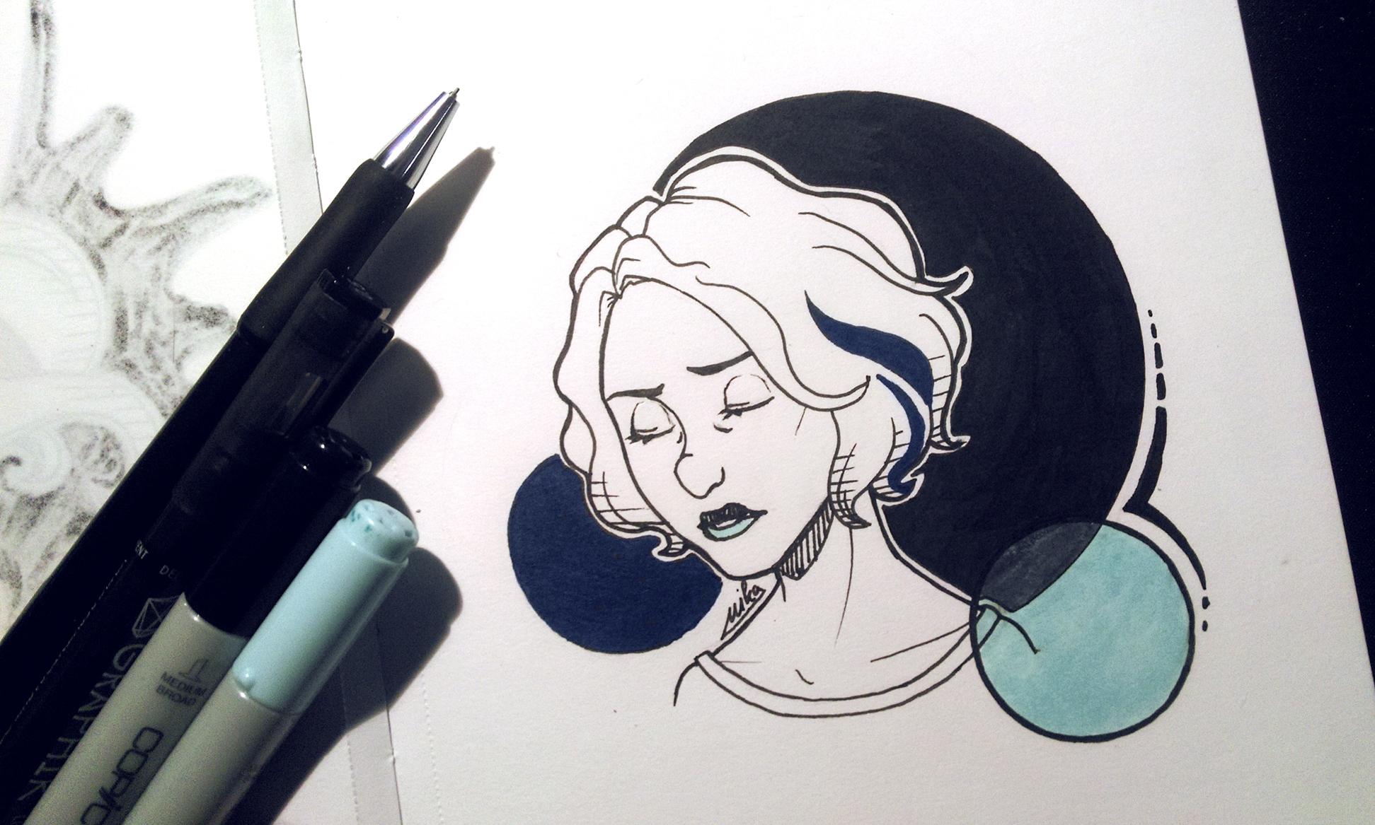 Riley - illustration, traditionalart - ryuutsuart | ello