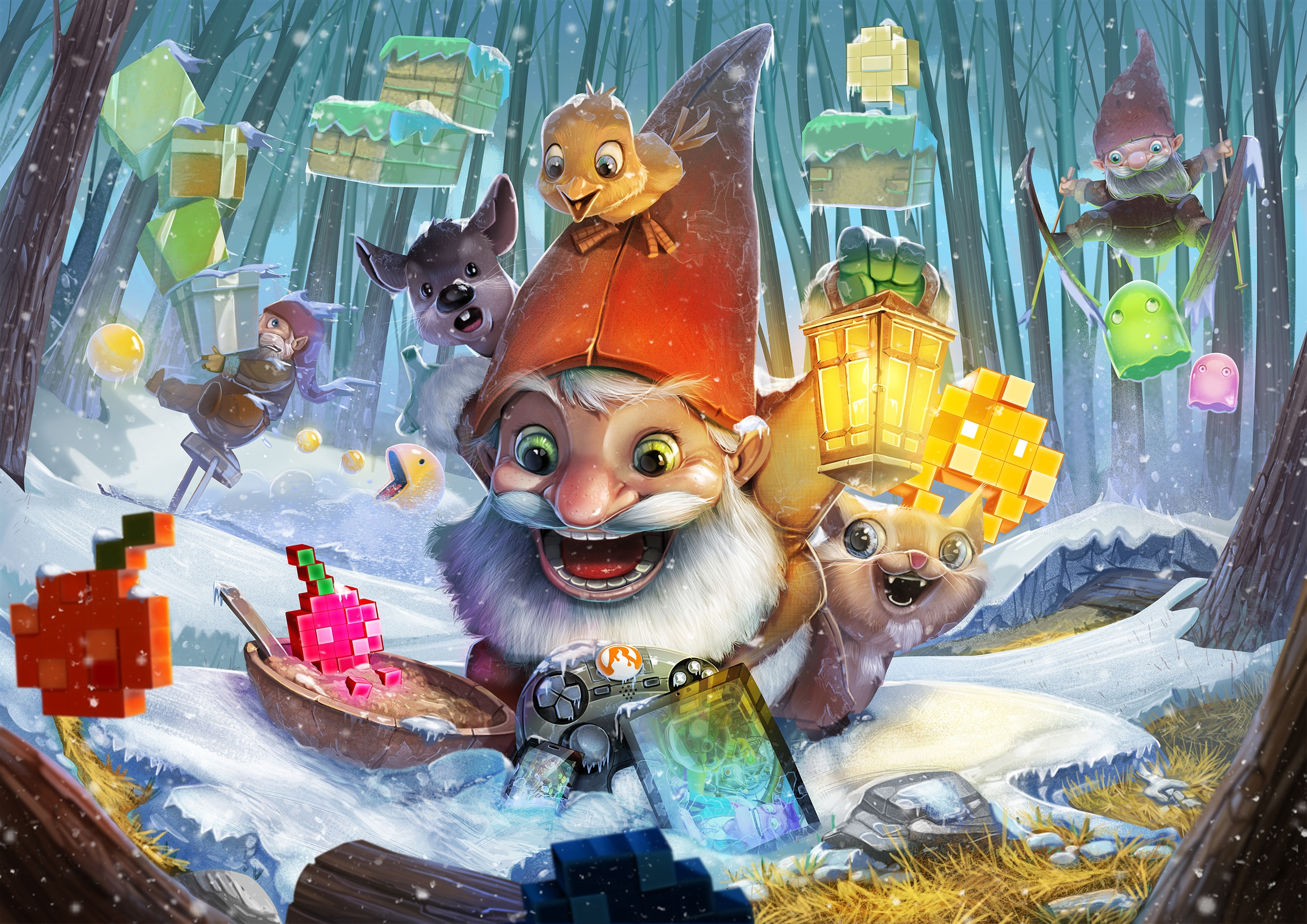 happy show Christmas card RockP - tombino | ello