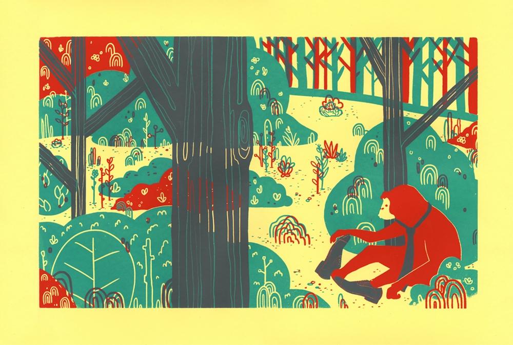 Monkey Business - illustration, screenprint - rosie-1055   ello
