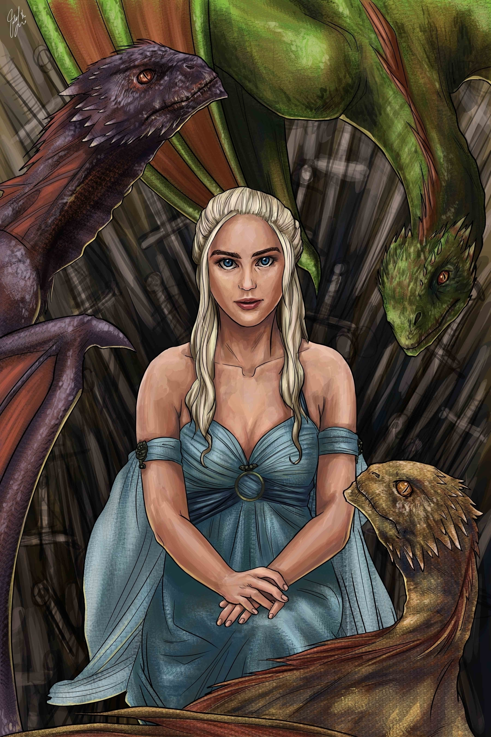 Game Thrones - Dragon Queen - gameofthrones - candaceaprillee | ello