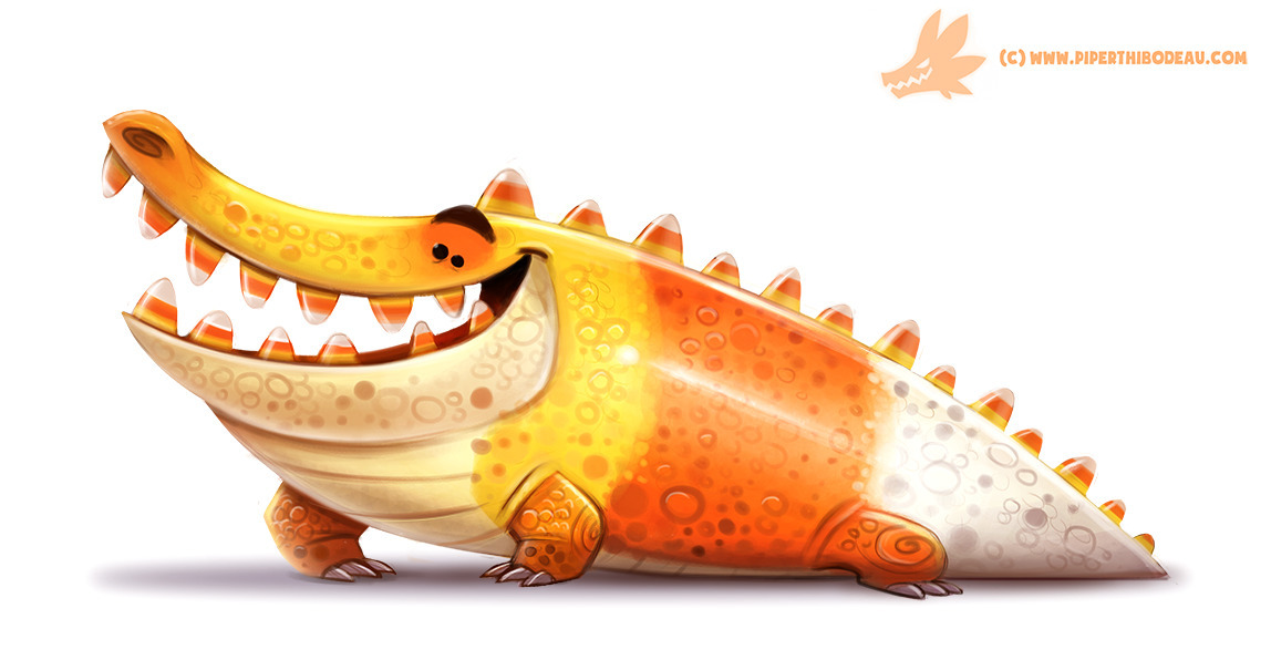 Daily Paint Crococorn - 1062. - piperthibodeau | ello
