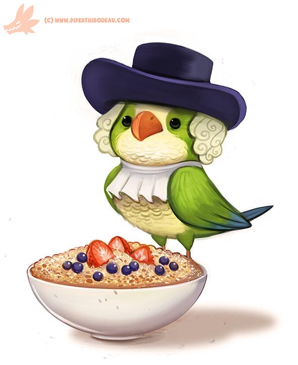 Daily Paint Quaker Oats Parrot - piperthibodeau | ello