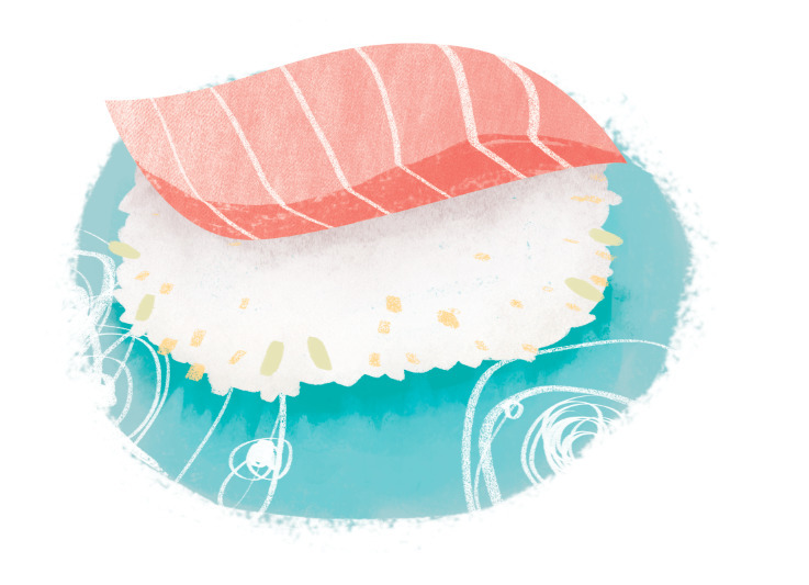 sushi - foodillustration, illustration - lynhuiong | ello