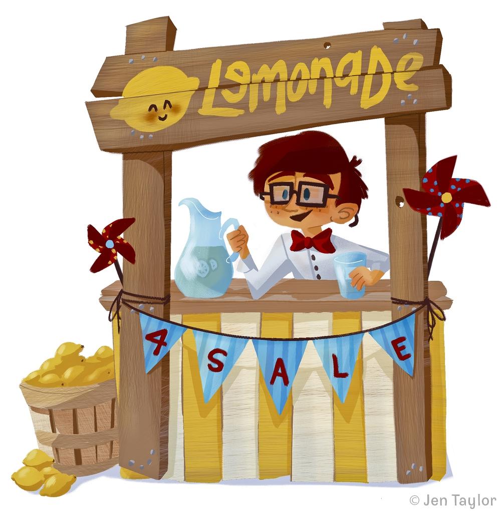 Lemonade Stand Jen Taylor - illustration - jentaylordraws | ello