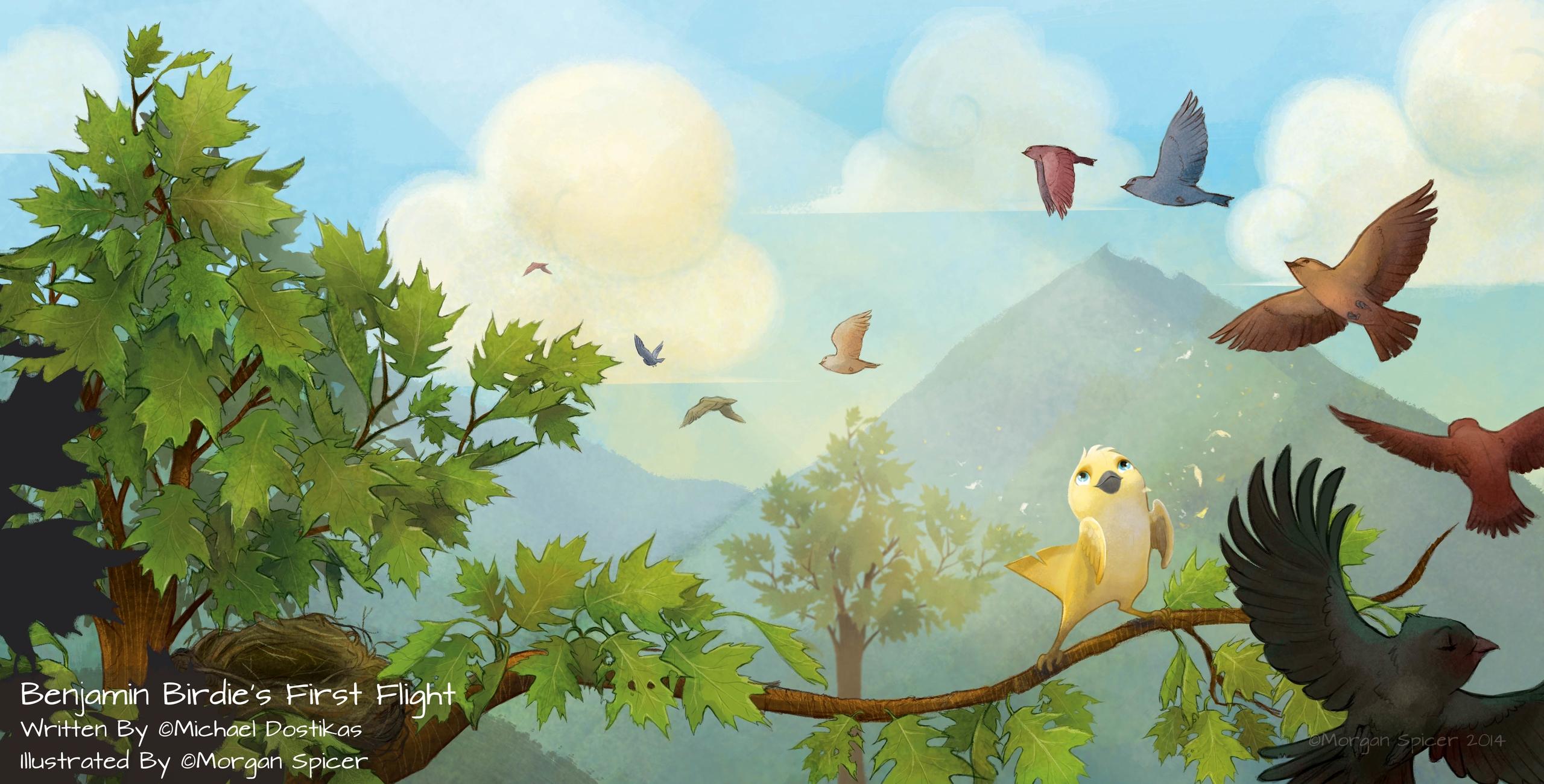 Spread Benjamin Book - bird, babybird - barkpointstudio | ello