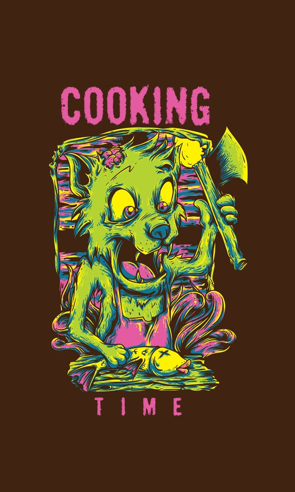 cooking time.. watch  - design, vector - badsyxn | ello