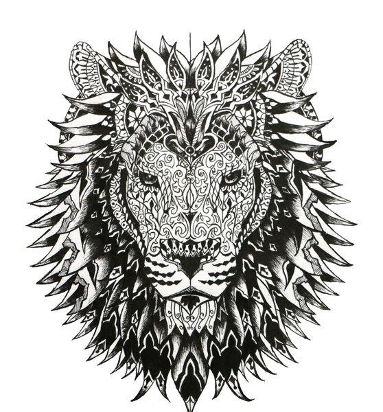 Lion Head - lion, pattern, patterndesign - cj_illustrations | ello