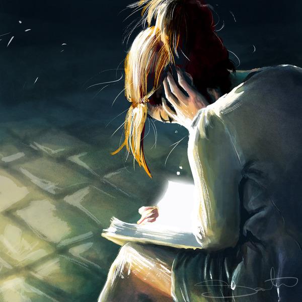 reading, books, light - samanthadoodles | ello