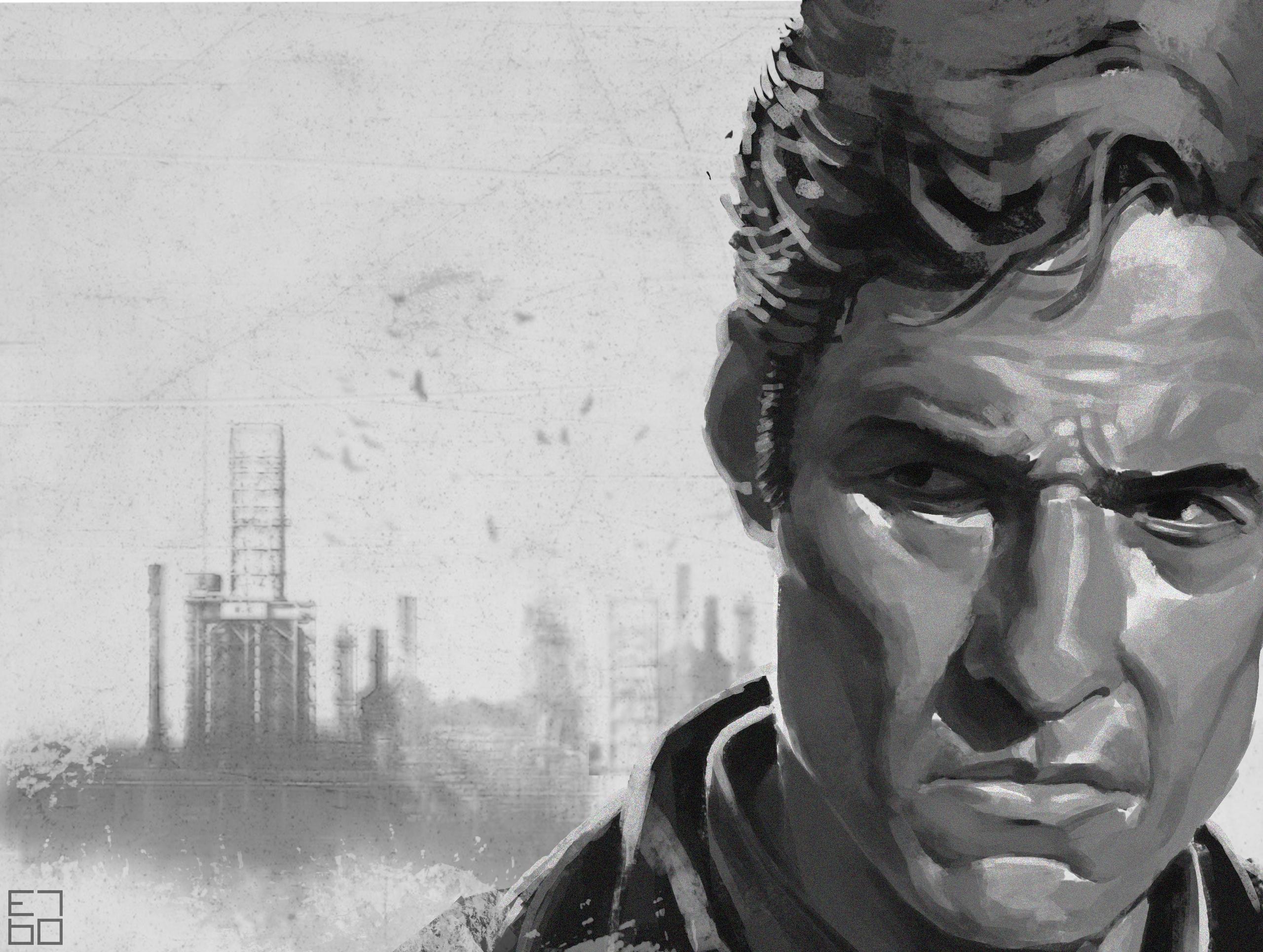 Rust true detective fan art - illustration - grositskiy | ello