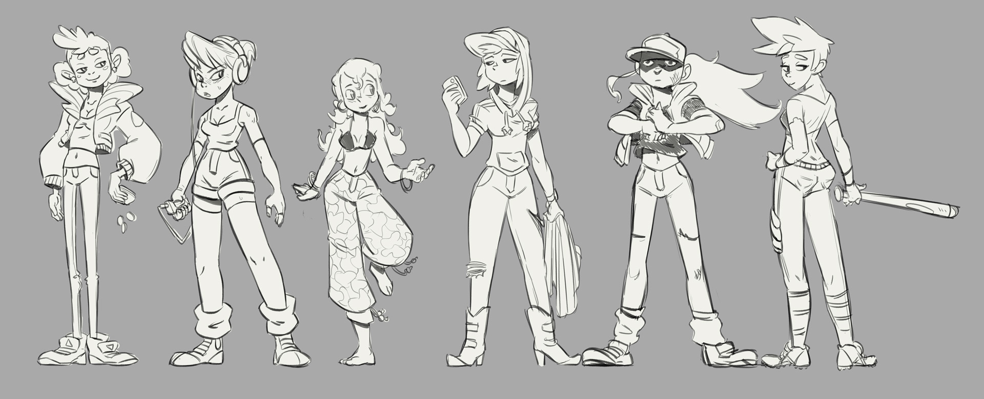 girls sketches - characterdesign - emanuelearnaldi | ello