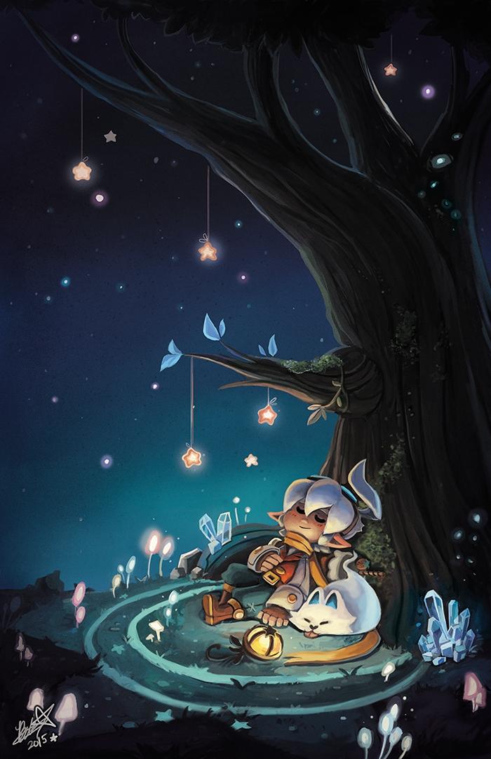 Original Starry Night Painting~ - bettykwong | ello