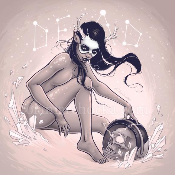 Favourite Lover - skull, woman, girl - aleksandracupcake | ello