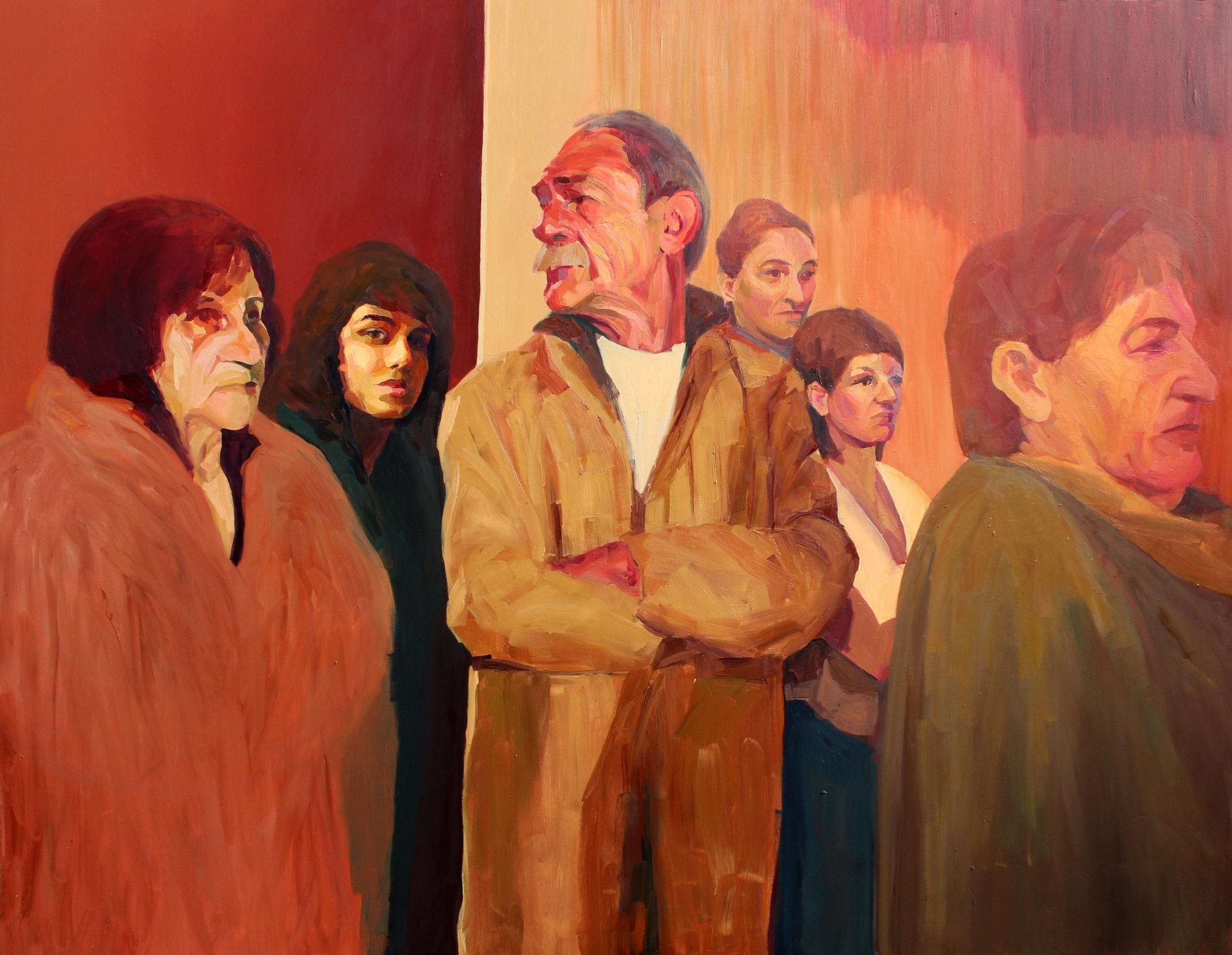 Public, oil canvas, 180 140cm,  - suzanadzelatovic | ello