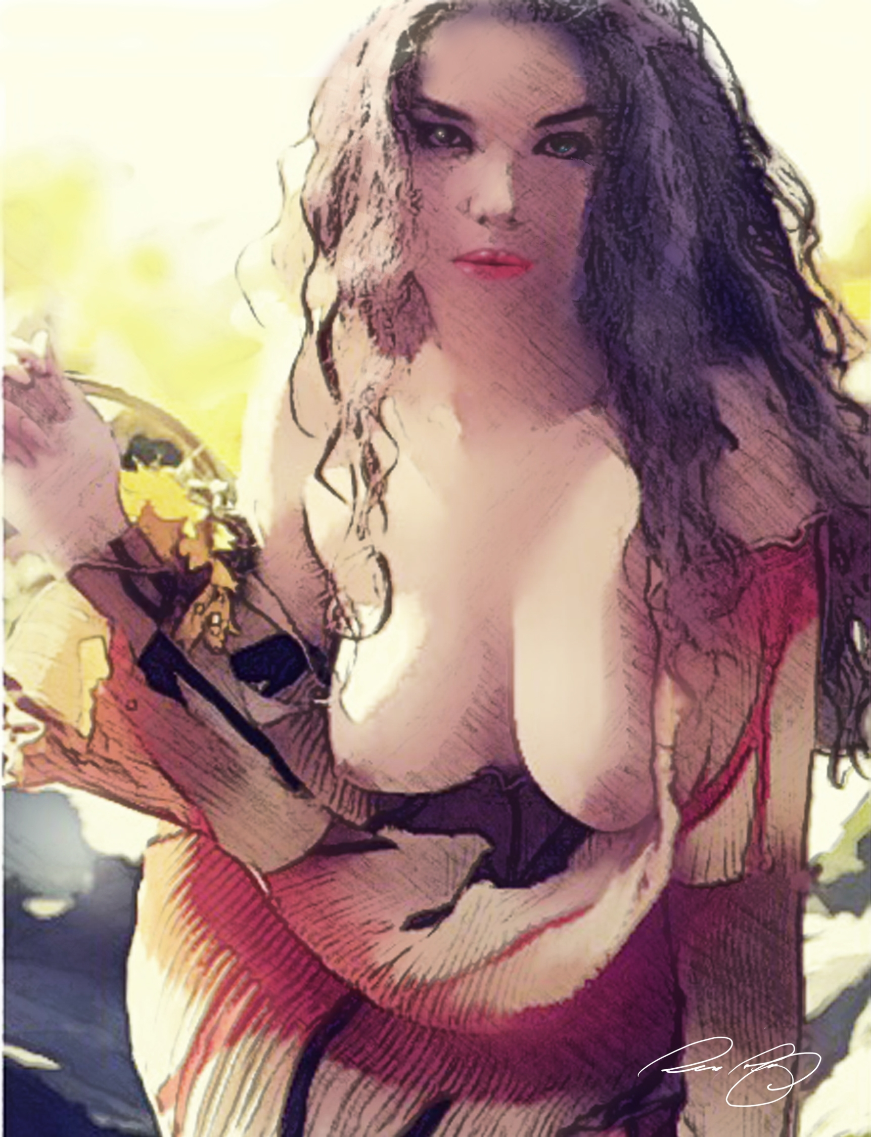 Flower-girl - illustration, sexywoman - rpoling | ello