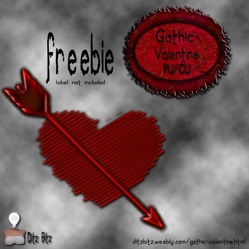 freebie heart arrow kit, Gothic - ditzbitz | ello
