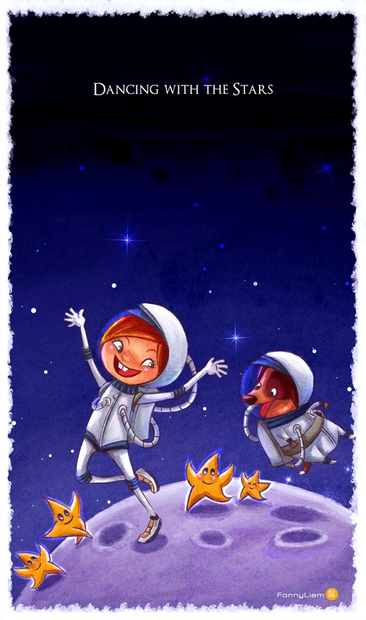 Dance Star - illustration, children'sillustration - wenfancy | ello