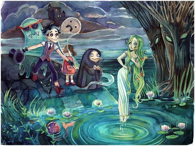 watercolors - illustration, watercolor - lavandula-8416   ello