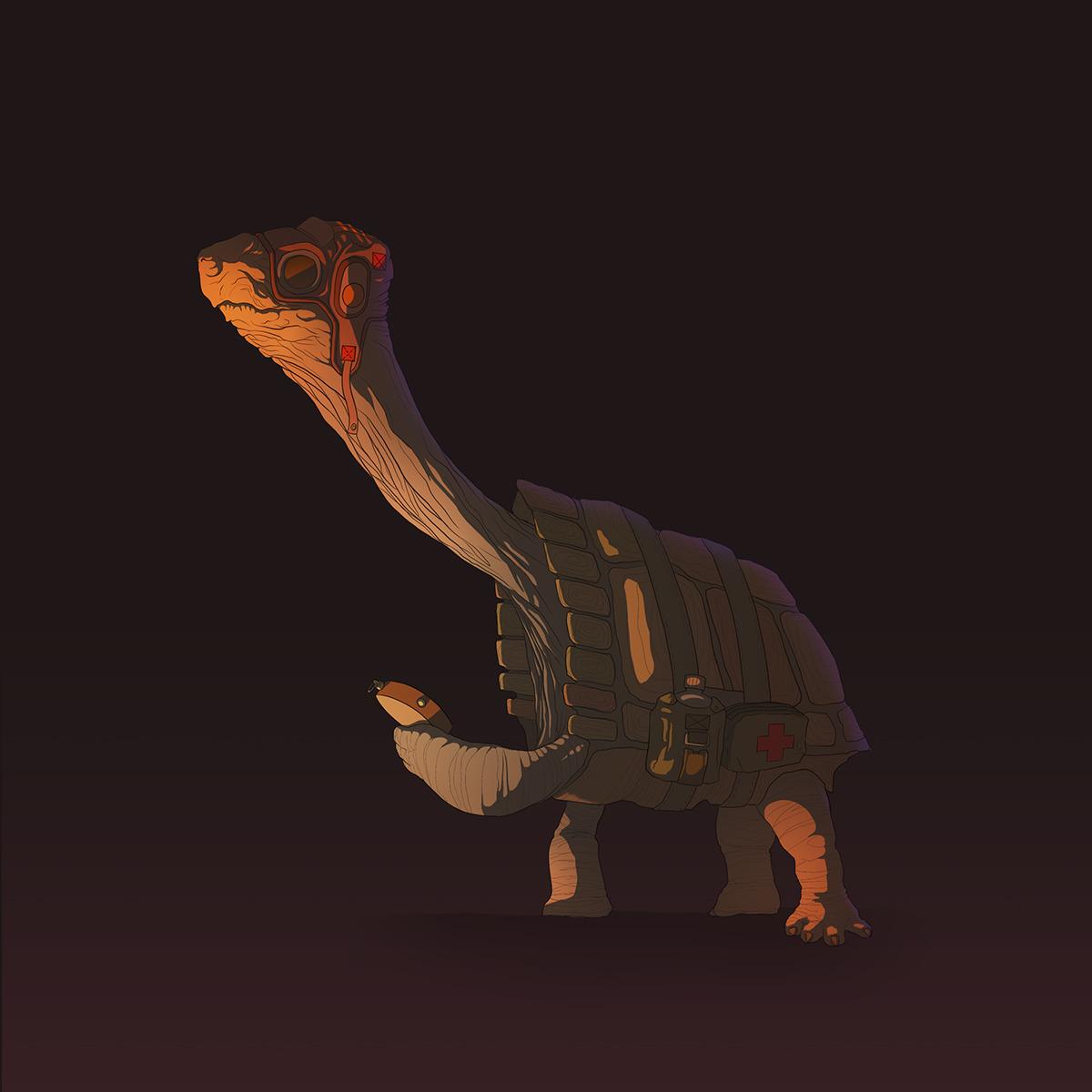 Pilot Turtle - illustration, characterdesign - geberluis | ello