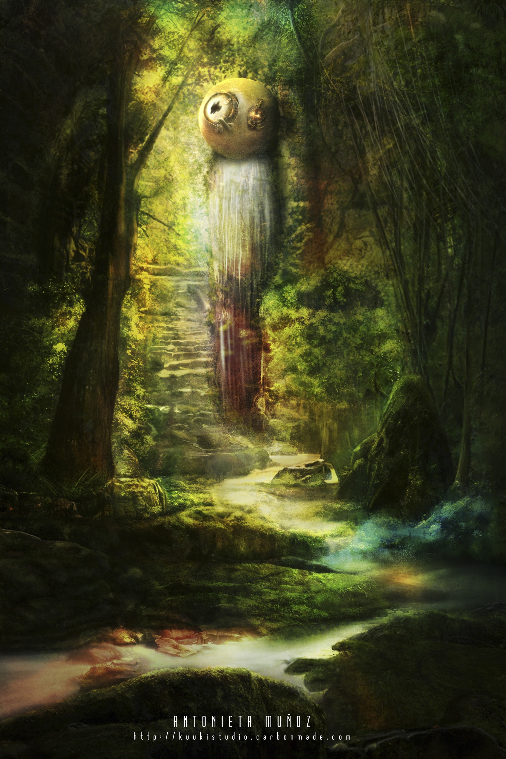 Secret Place - illustration, conceptart - kuukistudio | ello