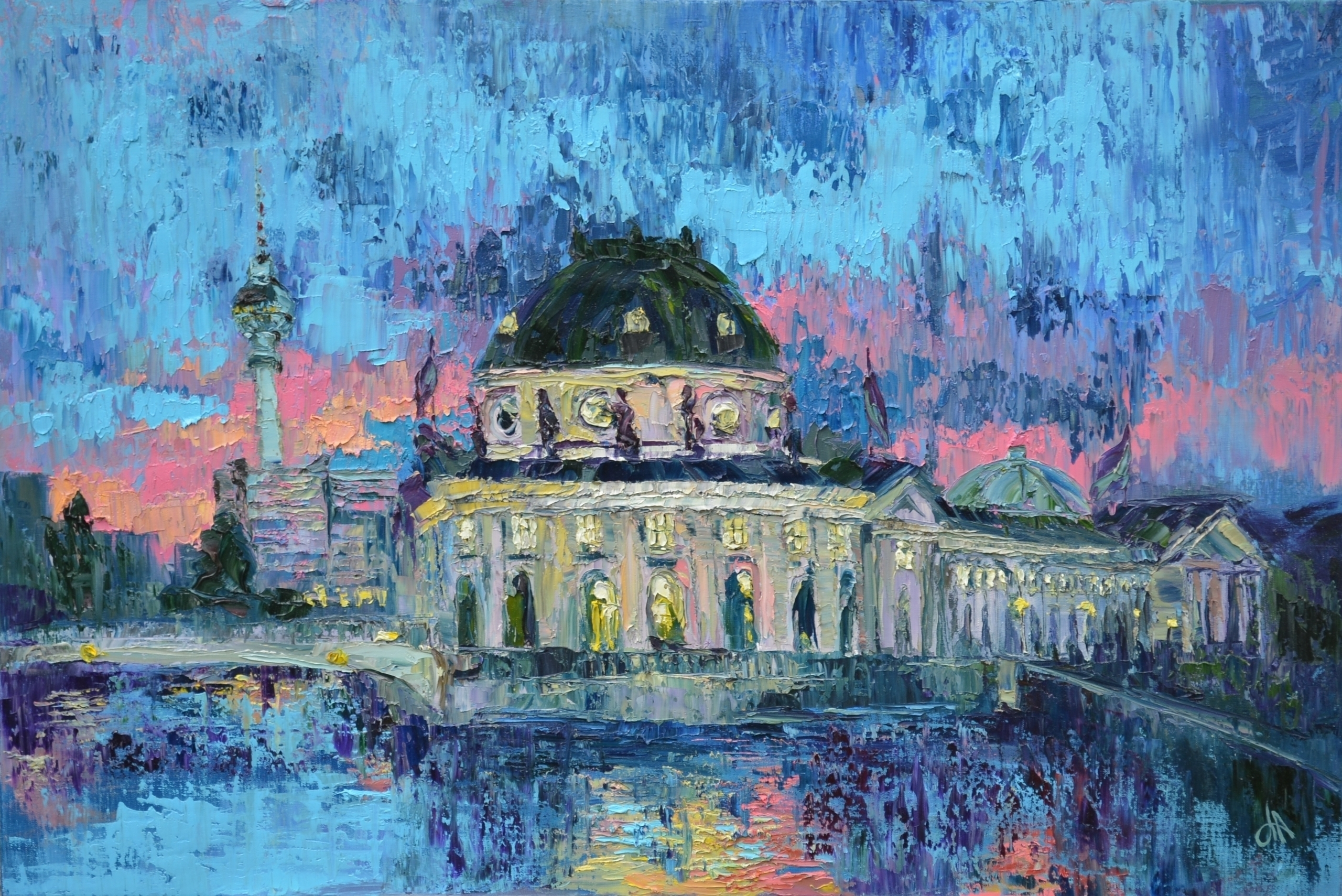 Berliner Dom 120x80 Oil canvas - tanya_vasilenko | ello