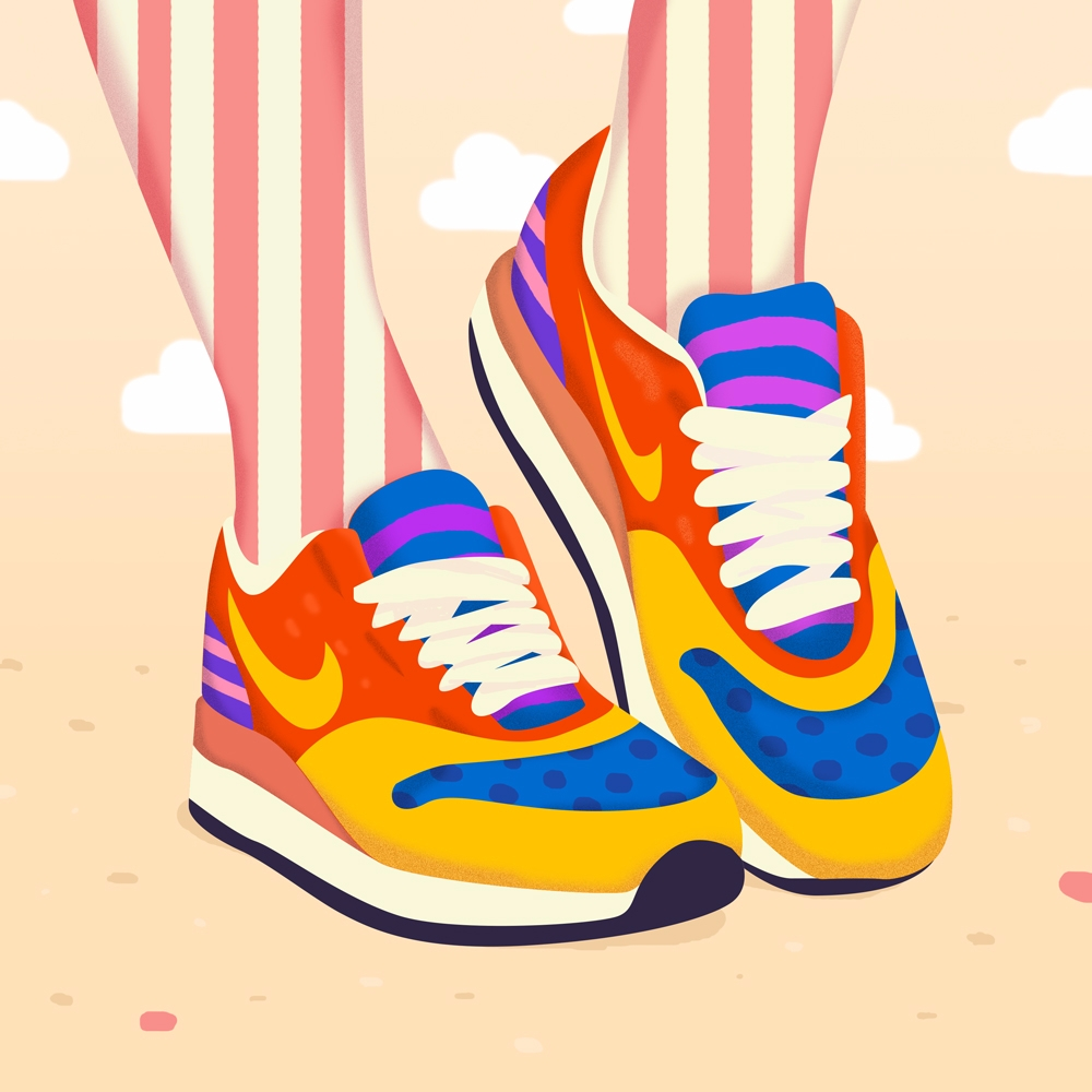 Magic Pop Art Shoes - Illustration - petraerikssonstudio | ello
