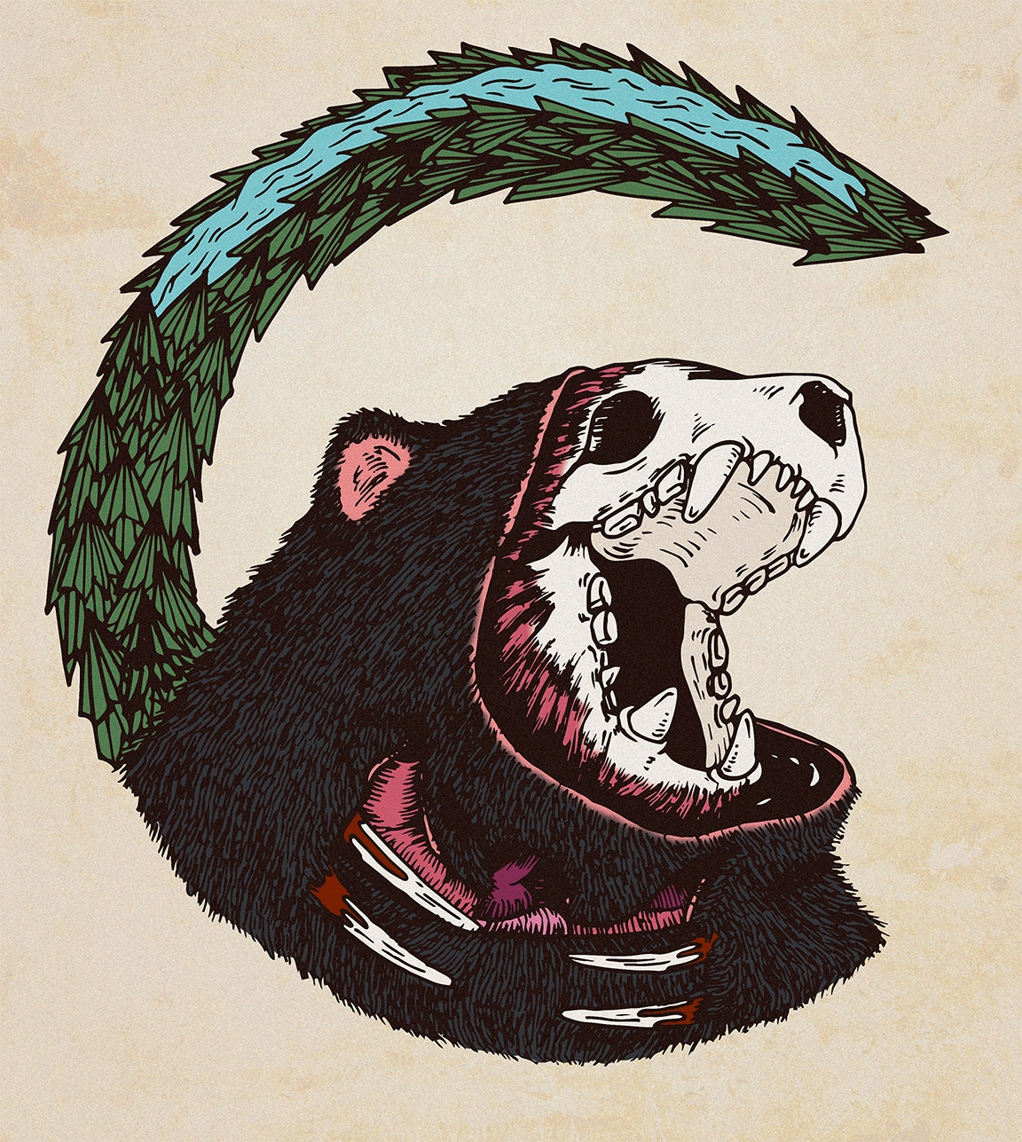 CHIVTEAM LOGO, (color version - bear - monsieurlaw | ello