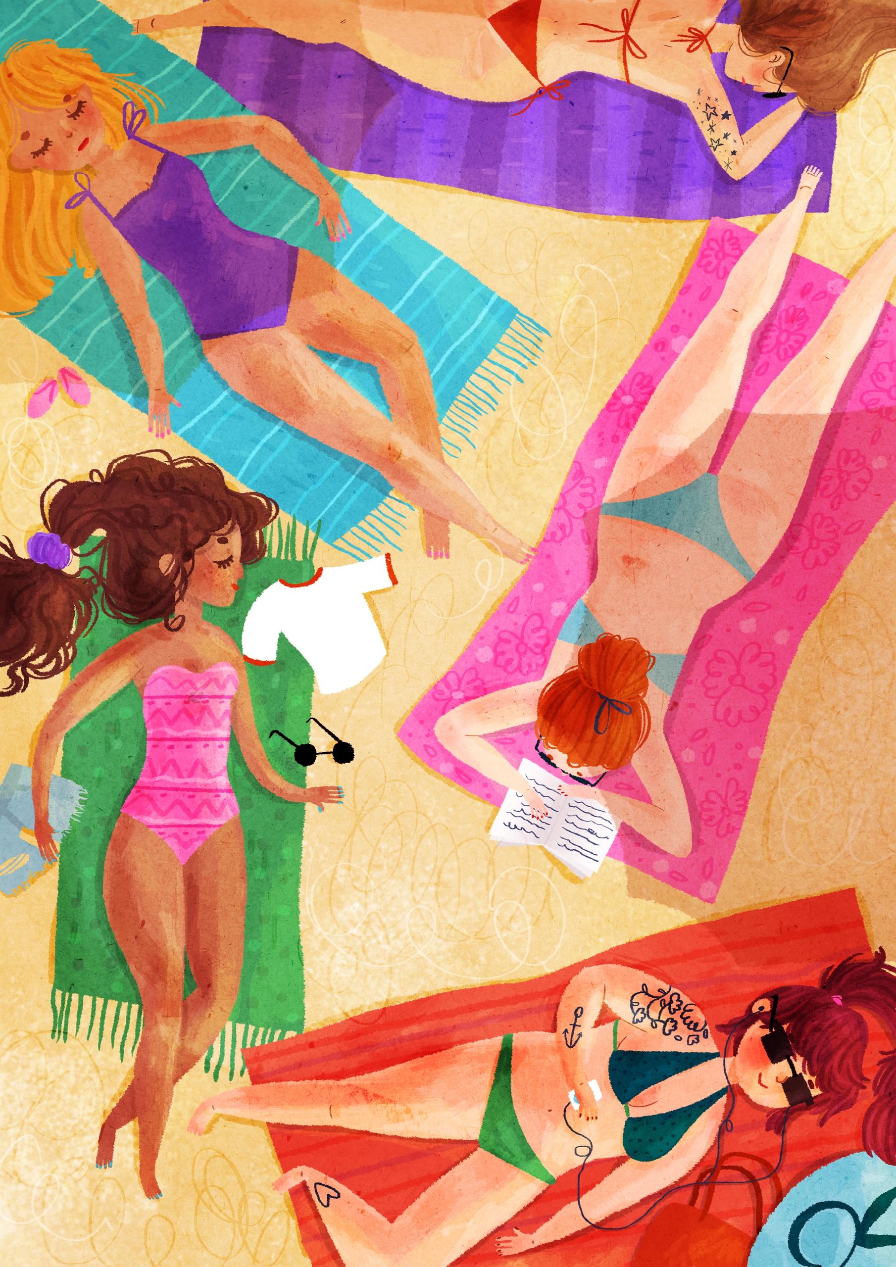 Brasileiras - brazil, beach, illustration - imnot12 | ello