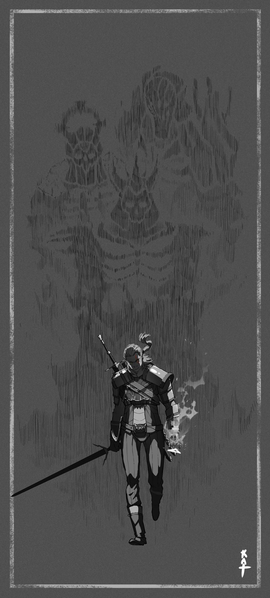 Witcher - illustration - kat-4510 | ello