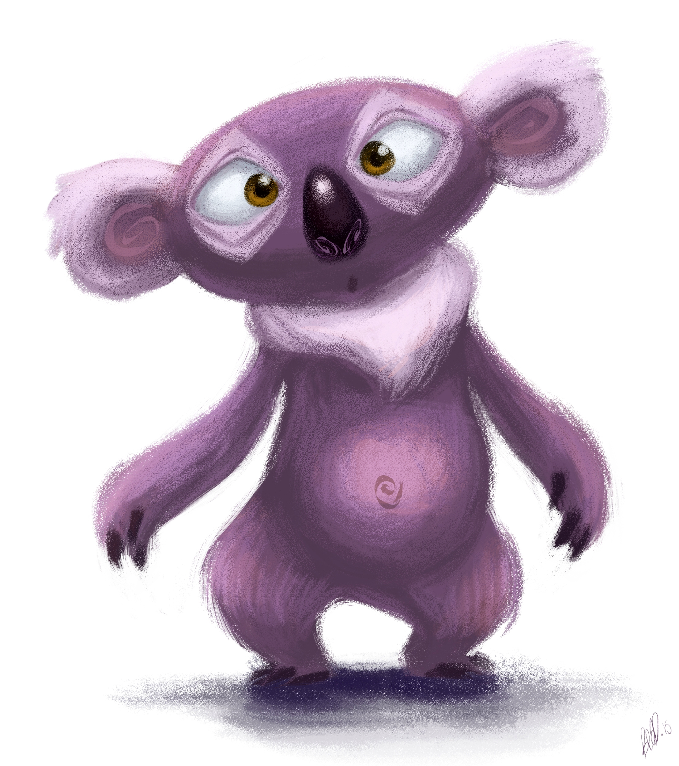 Melvin koala - animals, sketch, digitalart - beasketches | ello
