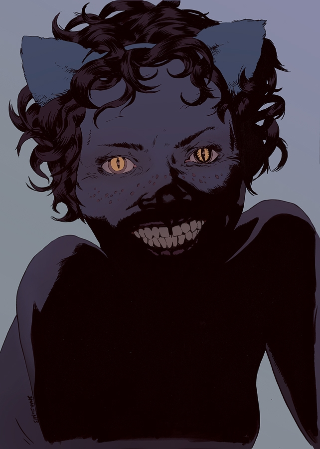 Cheshire Cat | Ink Photoshop - robertsammelin - robertsammelin-9753 | ello