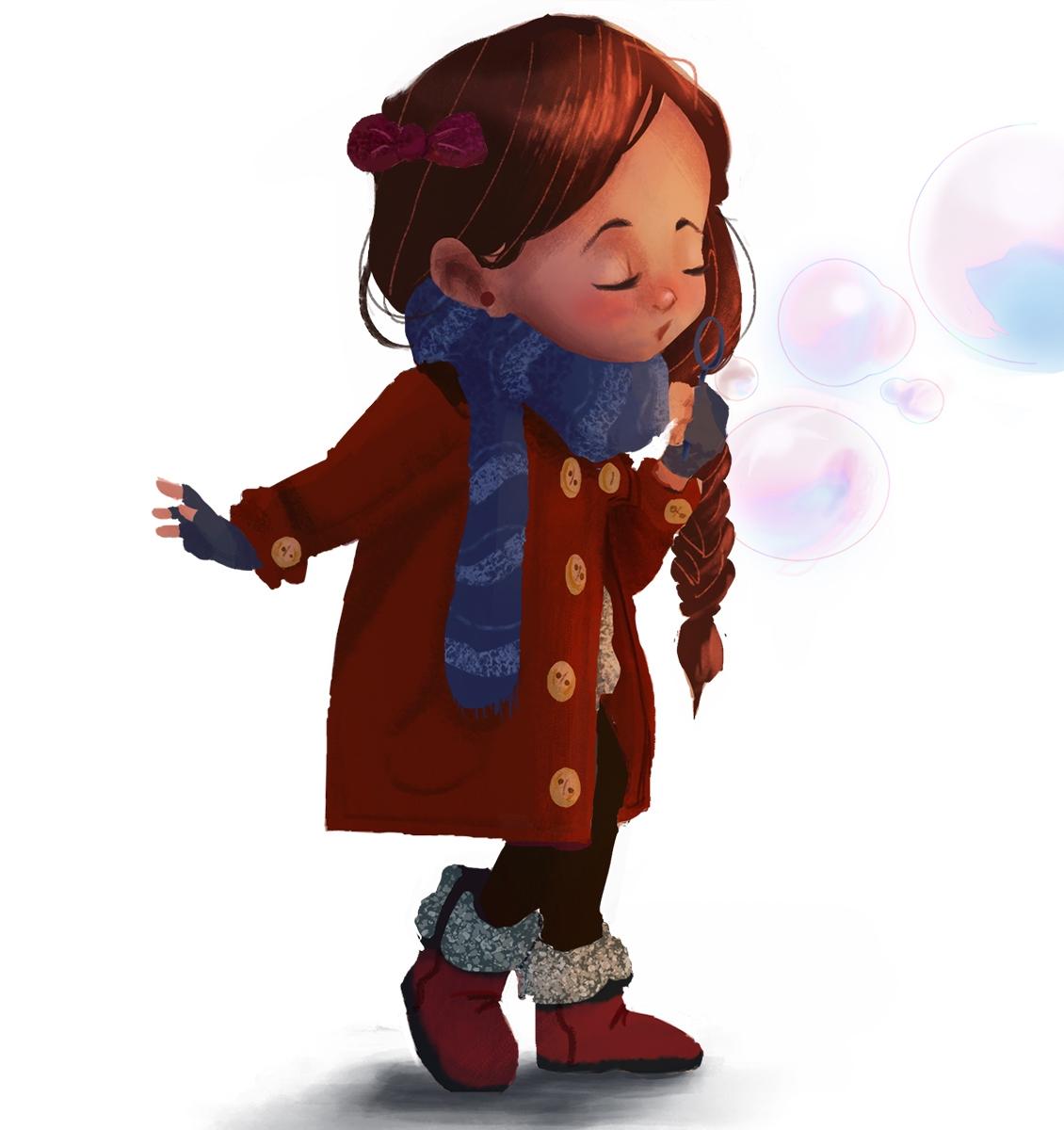 Acacia - characterdesign, kid, bubbles - acknebar | ello