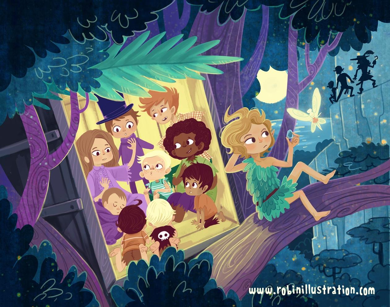 Lost Boys Storytime - peterpan, lostboys - robinrobinsonia | ello