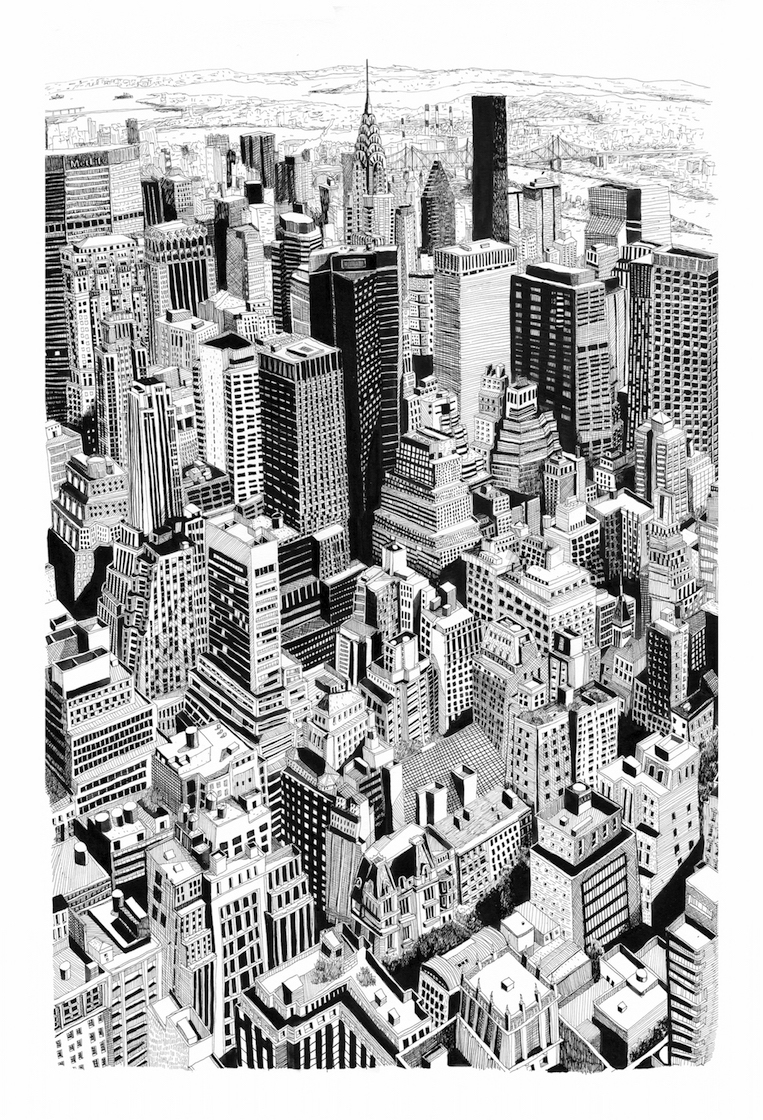 york - newyork, art, artwork, illustration - miekevdmerwe | ello
